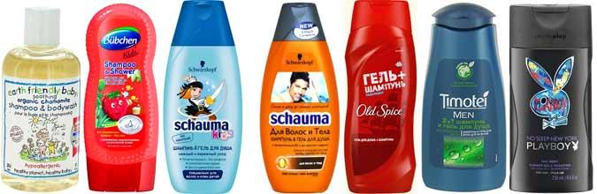 Гели-шампуни для мужчин