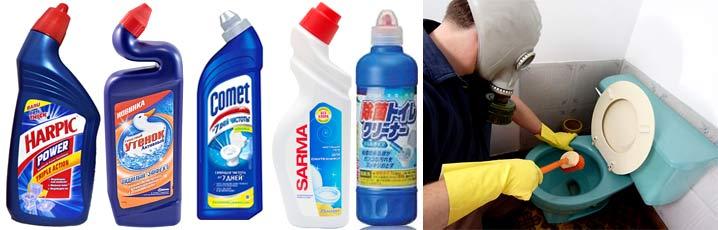 Как лучше использовать гель для чистки унитазов, биде и раковин