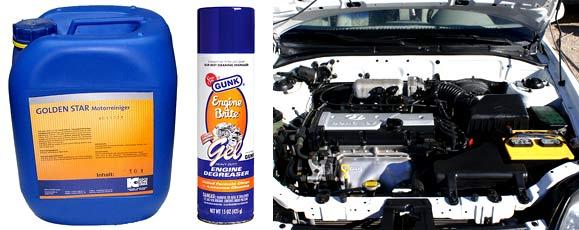 Гели для мойки двигателя автомобиля