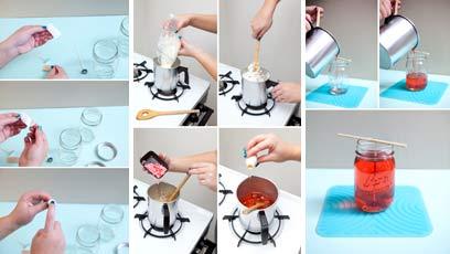 Инструкция для изготовления геля для свечей