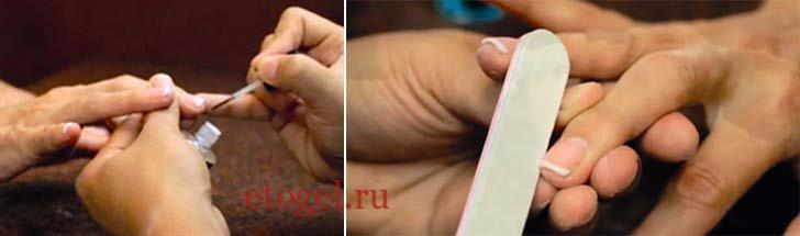 Наращивание ногтей гель-пудрой