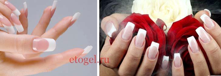 Дизайн ногтей камуфлирующим гелем