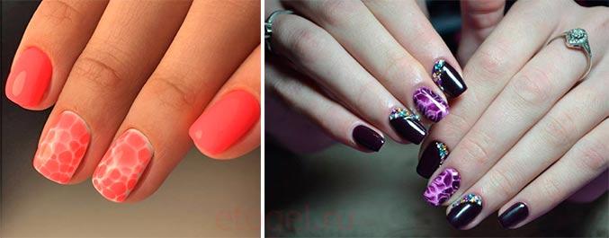 Дизайн ногтей по мокрому гель лаку