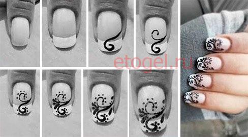 Урок рисования вензелей на ногтях