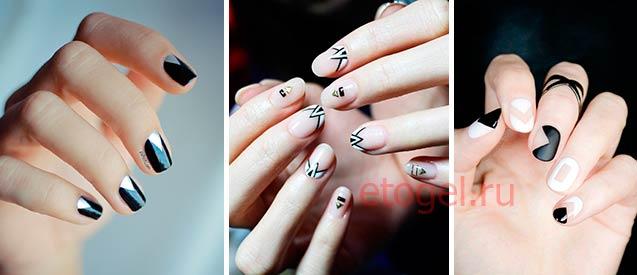 Дизайн ногтей с треугольниками