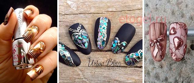 Идеи литья на ногтях