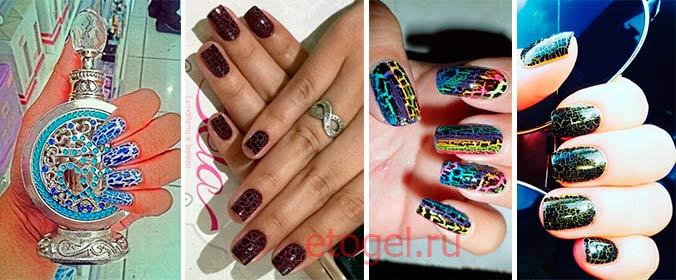 Примеры дизайна ногтей с эффектом кракелюра