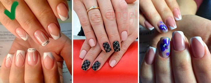 Выбор дизайна на длинных квадратных ногтях