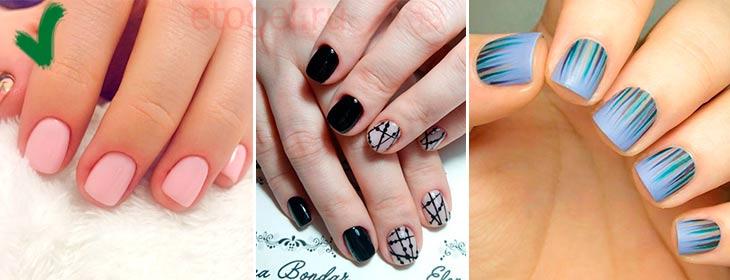Какой сделать дизайн на короткие квадратные ногти