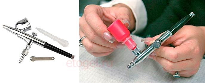 Как залить краску в аэрограф для ногтей