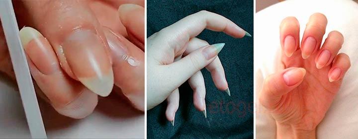Стилеты на натуральных ногтях