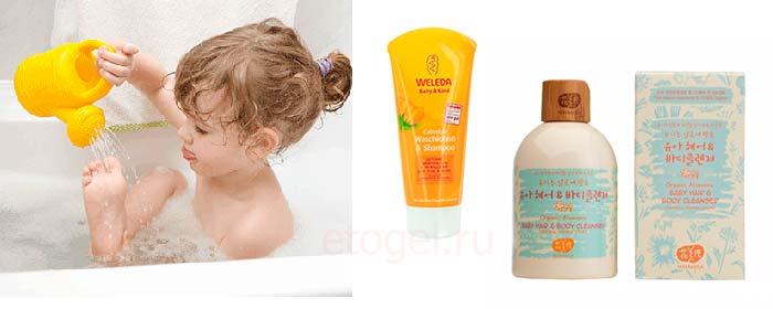 Каким гелем мыть ребенка
