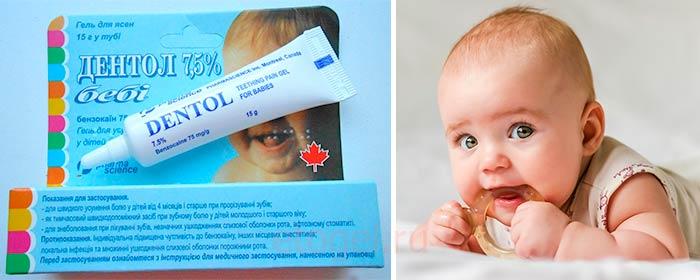 Гель детский во время прорезывания зубок