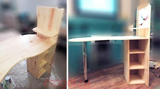 Как самостоятельно сделать маникюрный стол