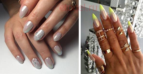 Дизайн ногтей с втирой