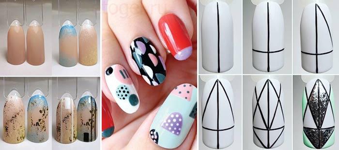 Абстракция на ногтях как рисовать