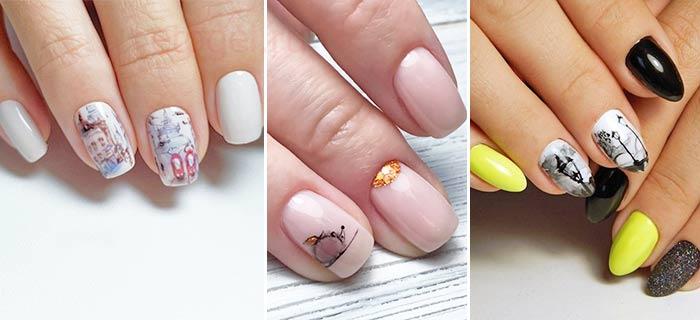 Как выглядит акварельная роспись ногтей