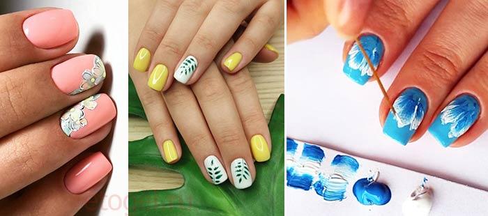Как рисовать гель краской на ногтях