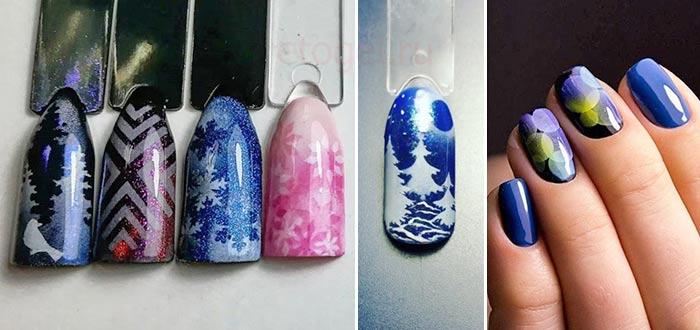 Многослойный дизайн ногтей аэропуффинг