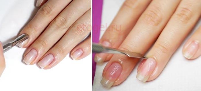 Подготовка ногтей для ровного маникюра с бликами