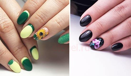Акриловая роспись ногтей примеры работ