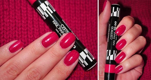 Как красит ногти лак-маркер