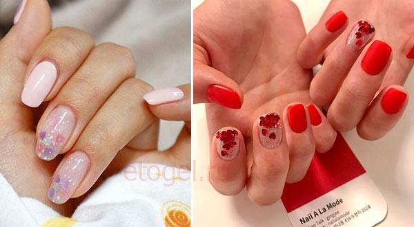Самые популярные цвета сердечек на ногтях