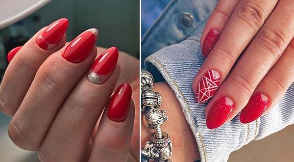 Дизайн ногтей с красным гель лаком