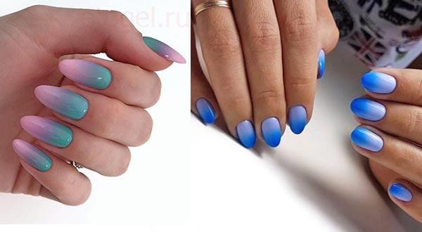 Сочетание цветов для омбре на ногтях