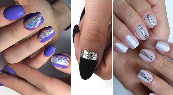 Использование лент полос для дизайна ногтей