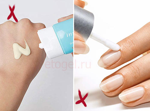 Крем для рук перед гель лаком