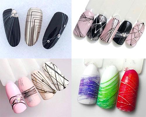 Дизайн ногтей гель паутинкой