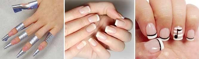 Наращивание коротких ногтей гелем