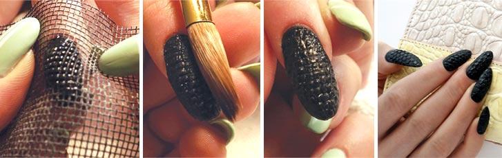 Дизайн ногтей с бульонками на гель лаке