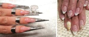 Ногти на формах гелем