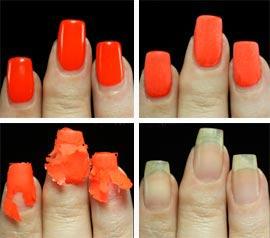 Как удалить био гель с ногтей