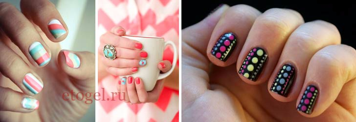 Красивый дизайн ногтей гель-лаком на короткие ногти