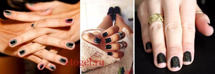 Дизайн ногтей в темных цветах