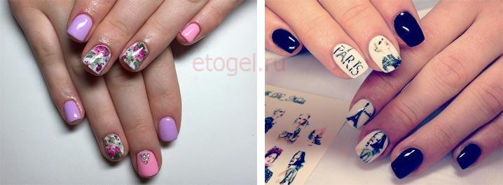 Маникюр (дизайн ногтей) битое стекло - фото