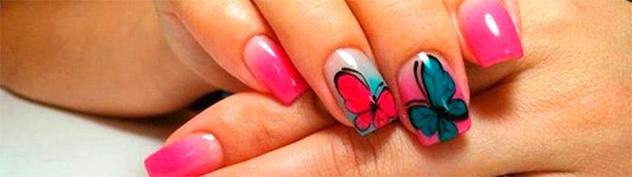 Как нарисовать бабочку гель лаком