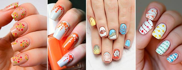 Дизайн на ногтях с помощью дотса