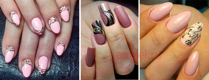 Узоры на ногтях в технике литье