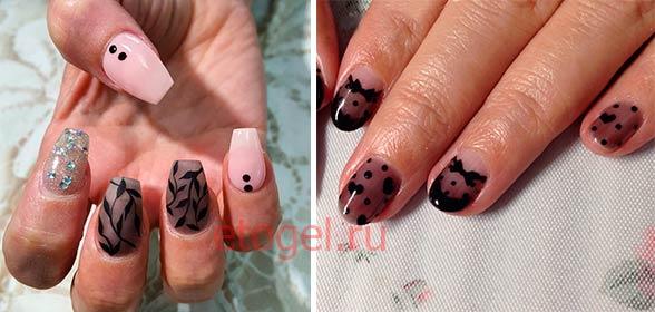 Дизайн ногтей - вуаль