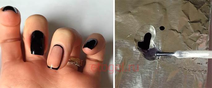 Как сделать вуаль на ногтях
