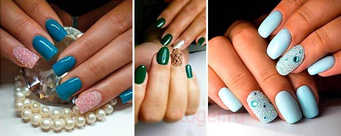 Дизайн ногтей с хрустальной крошкой фото