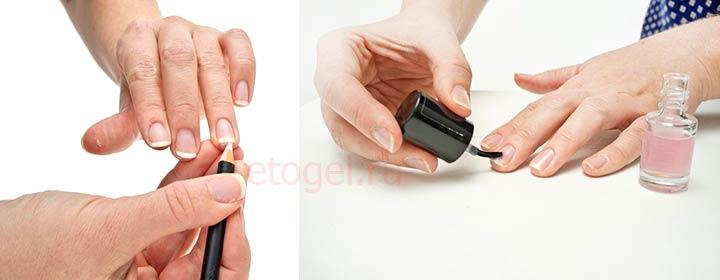 Отбеливающий карандаш и лак для ногтей