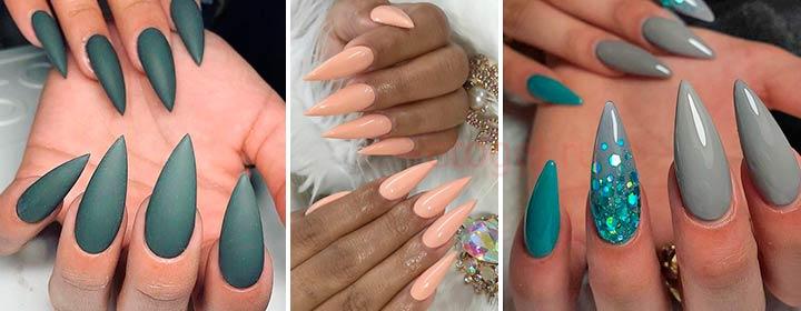 Как придать ногтям форму стилет