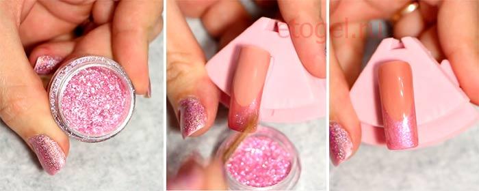 как наносить жидкую слюду на ногти