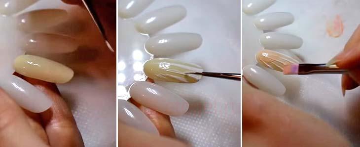 Как делать ноготь ракушку