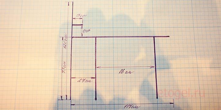 Чертеж маникюрного стола для изготовления дома